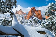 Garden of the Gods with snow